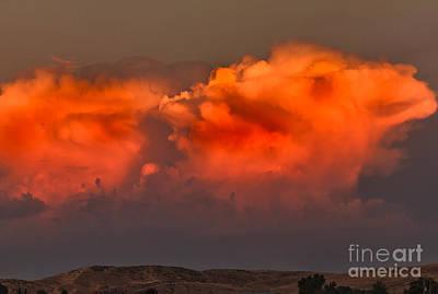 Clouds Over Emmett Foothills Art Print