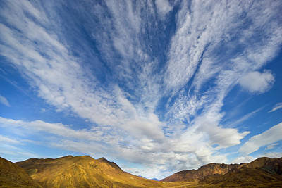 Photograph - Clouds Over Fall Tundra Denali N P by