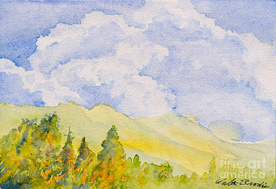 Painting - Clouds Over Francis Peak by Walt Brodis