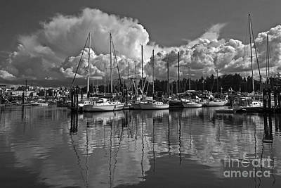 Photograph - Clouds Over French Creek Harbour In Monochrome by Inge Riis McDonald