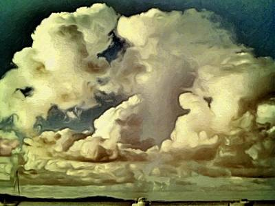 Painting - Clouds Over Green Cay - Horizontal by Lyn Voytershark