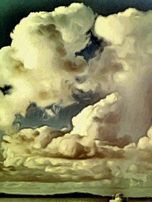 Painting - Clouds Over Green Cay - Vertical by Lyn Voytershark