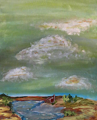 Painting - Clouds Over House At Riverbend by Patricia Januszkiewicz