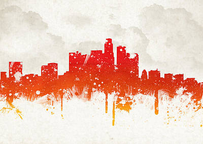 Tower Digital Art - Clouds Over Los Angeles California by Aged Pixel