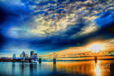 Indiana Landscapes Photograph - Clouds Over Louisville by Darren Fisher