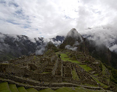 Photograph - Clouds over Machu Picchu by Jared Bendis