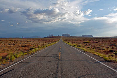 Clouds Over Monument Valley Art Print by Chris Flack Desert Images