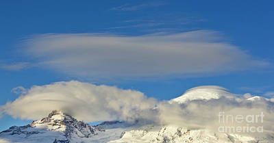 Photograph - Clouds Over Mount Rainer  by Yva Momatiuk John Eastcott