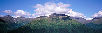 Clouds Over Mountain Range, Seward Art Print by Panoramic Images