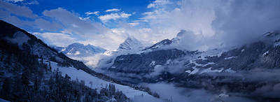 Clouds Over Mountains, Alps, Glarus Art Print by Panoramic Images