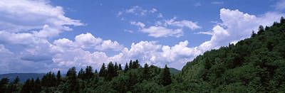 Green Cherokee Photograph - Clouds Over Mountains, Cherokee, Blue by Panoramic Images