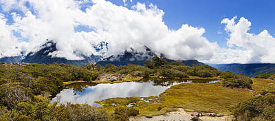 Clouds Over Mountains, Key Summit Art Print by Panoramic Images