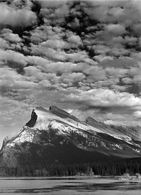 Photograph - 103519-clouds Over Mt. Rundle by Ed  Cooper Photography
