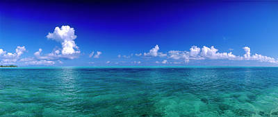 Boras Photograph - Clouds Over Pacific Ocean, Bora Bora by Panoramic Images