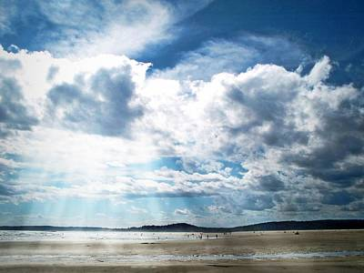 Clouds Over Popham Beach Original by Joy Nichols