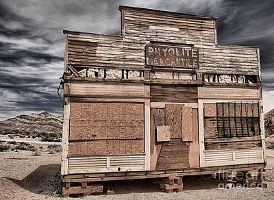 Photograph - Clouds Over Rhyolite Mercantile by Adam Jewell