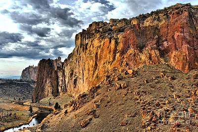 Photograph - Clouds Over Smith Rock by Adam Jewell