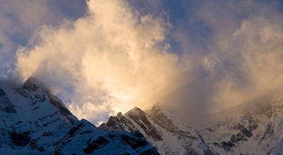Nepal Scenes Photograph - Clouds Over Snowcapped Mountain by Panoramic Images
