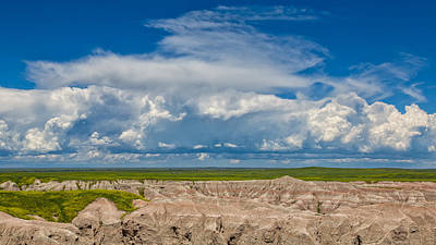 Photograph - Clouds Over The Badlands by John M Bailey