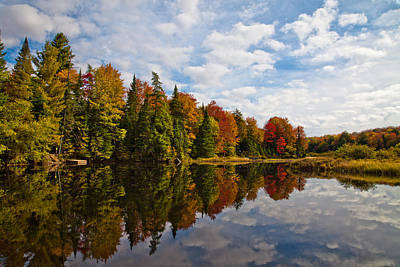 Adirondack Photograph - Clouds Over The Beautiful Moose River by David Patterson