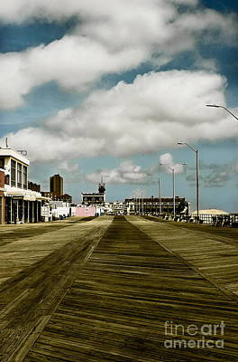 Clouds Over The Boardwalk Art Print