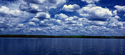 Clouds Over The Catawba River Art Print