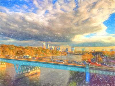 Clouds Over The City Art Print by Alice Gipson