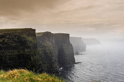 Cliffs Photograph - Clouds Over The Cliffs Of Moher by AMB Fine Art Photography
