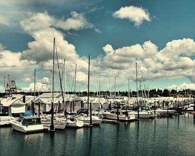Photograph - Clouds Over The Marina by Patricia Strand