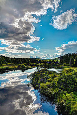 Old Photograph - Clouds Over The Moose River by David Patterson