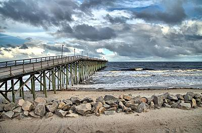 Clouds Over The Pier Art Print