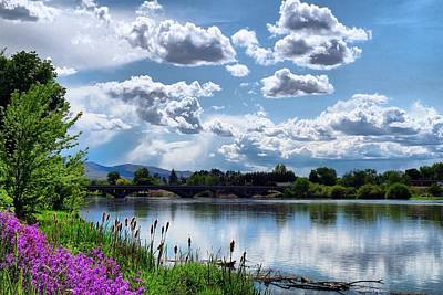 Clouds Over The River Art Print by Lynn Hopwood