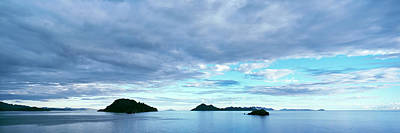 Clouds Over The Sea Near Villa Del Print by Panoramic Images