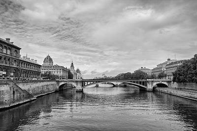 Photograph - Clouds Over The Seine by Georgia Fowler
