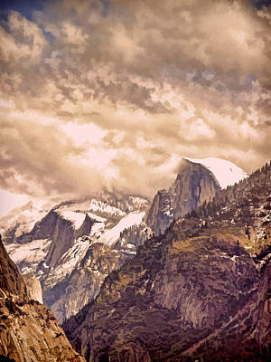Yosemite National Park Digital Art - Clouds Over The Valley by Bill Gallagher
