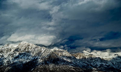 Clouds Over The Wasatch Mountains Art Print