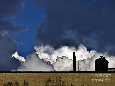 Photograph - Clouds Over The Watertower by Mark Thomas