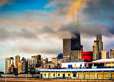 Photograph - Clouds Over The Windy City - Chicago Skyline by Gregory Ballos
