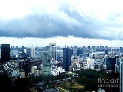 Tokyo Skyline Photograph - Clouds Over Tokyo by Nelly Bacskay