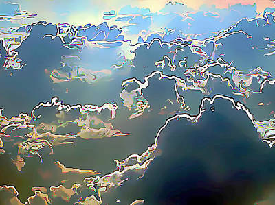 Clouds Painted In Air Art Print by Wernher Krutein