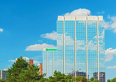 Photograph - Clouds Reflaction On Office Building Windows by Marek Poplawski