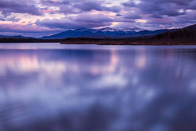 Photograph - Clouds Reflecting On Cherry Pond by Jeff Sinon