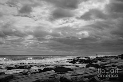 Rocky Beach Photograph - Clouds Rolling In by Diane Diederich