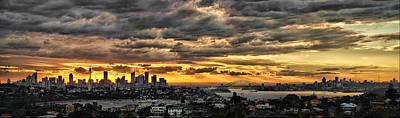Clouds Rose Over The City Art Print by Andrei SKY