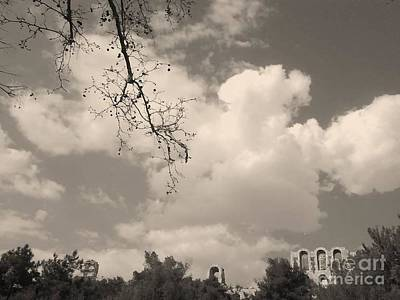 Photograph - Clouds -shapes In Black-1 by Katerina Kostaki