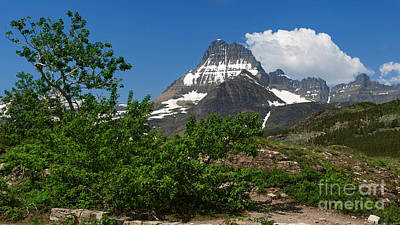 Photograph - Clouds Soar Over Mount Wilbur At Many Glacier by Charles Kozierok
