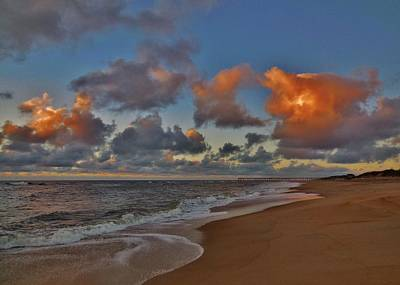 Clouds Sunrise And Pier 4 10/01 Art Print