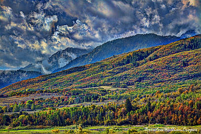 Clouds Sweating On Autumn Art Print