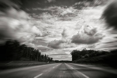 Photograph - Clouds Zoom Interstate 85 by Ben Shields