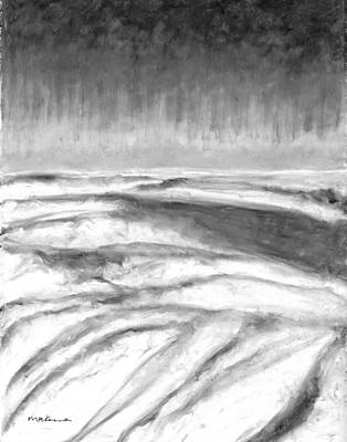 Painting - Cloudscape Black And White by Carrie MaKenna